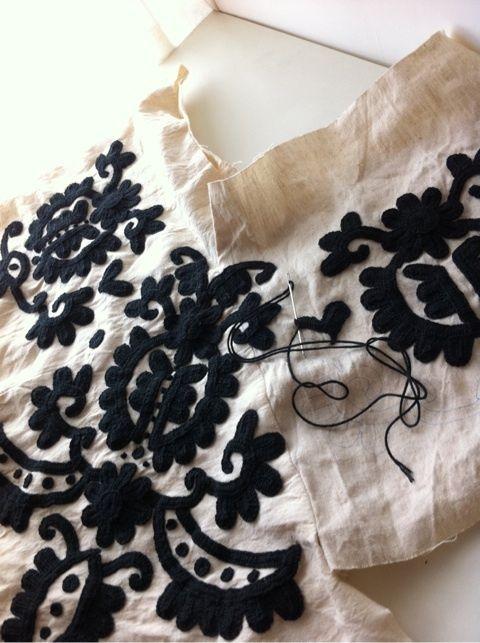 お花の様な編み目のかぎ針編み★の画像   香港生活を始めて現地素材を使った手作り(ハンドメイド)の作品を作って楽…