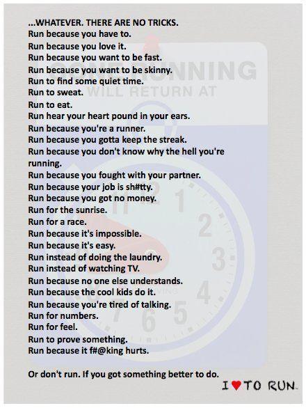 running truths