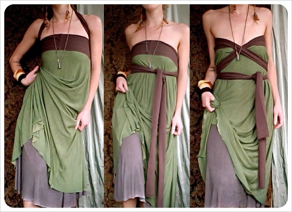 Foreign One Convertible Reversible Travel Dress Organic