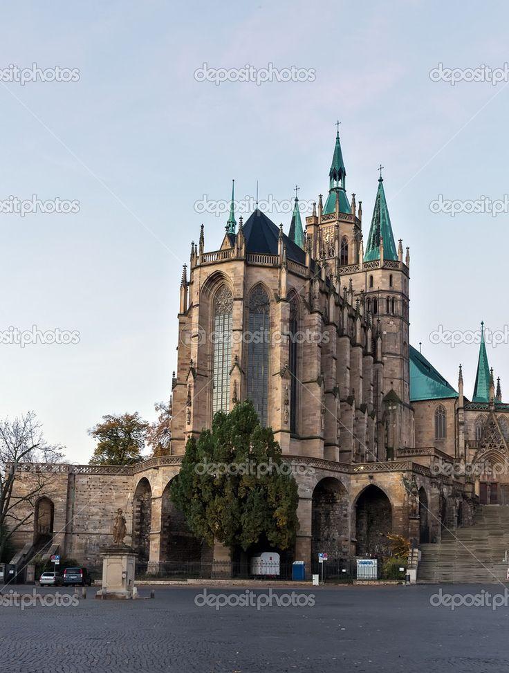 Erfurt Cathedral, Erfurt, Germany | Catedral de Erfurt, Alemanha - Imagem Stock