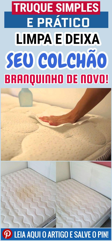 Dica sobre como limpar o colchão e torná-lo branco como novo.   – Produtos de Limpeza