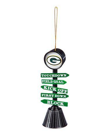 Look at this #zulilyfind! Green Bay Packers 'Fan Crossing' Ornament #zulilyfinds
