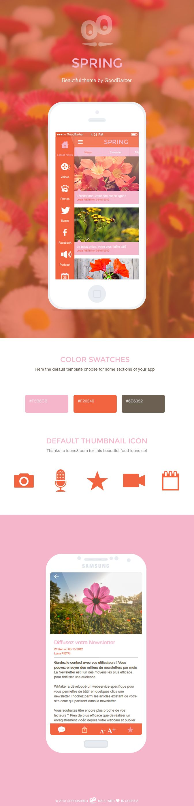 wedding card design software for android%0A Spring app design   design  template  theme