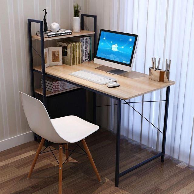 Hot Promotions combinaison bureau bibliothèque simple ordinateur de bureau table, élève à la maison de mode table d'écriture