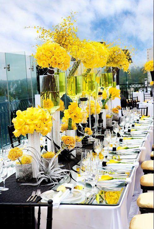 Mariage thème jaune et noir! Un mariage très estival!