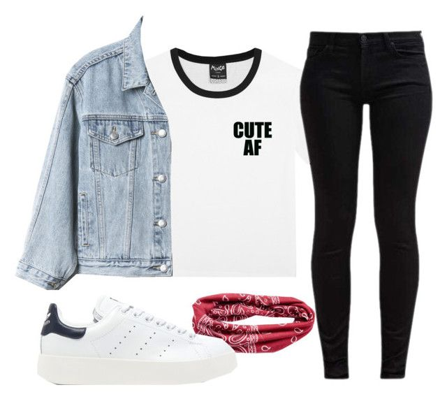 """""""inspired by oh my girl(?)"""" by clairekpopper on Polyvore featuring Gap, 7 For All Mankind, Mudd and adidas Originals"""