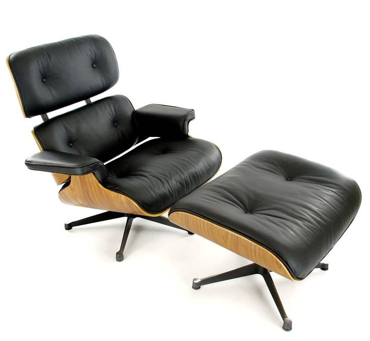 eames style lounge chair and footstool by i love retro | notonthehighstreet.com