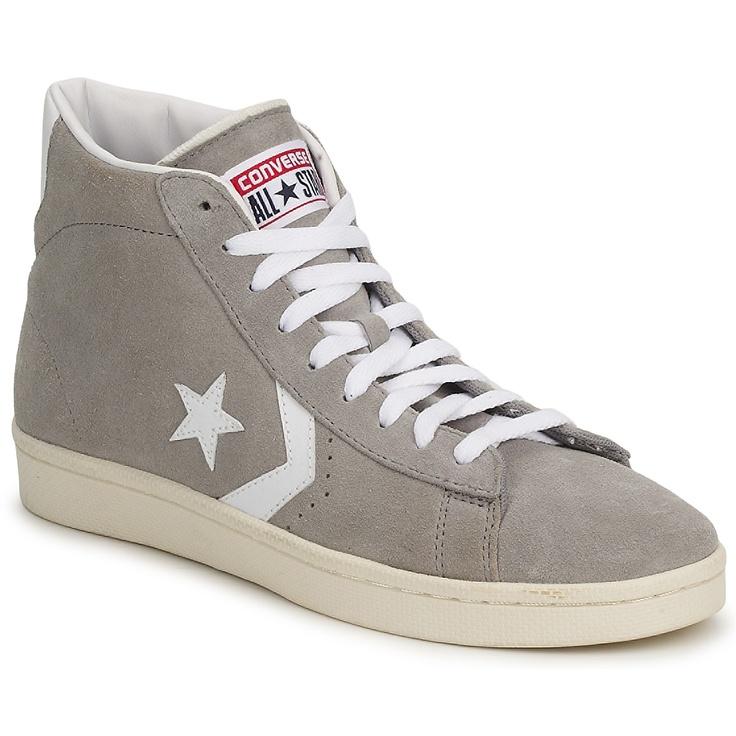 Chaussures Femme Converse PRO LEATHER SUEDE MID - achat de chaussures en ligne, boutique chaussure pas cher sur Shoes.fr !