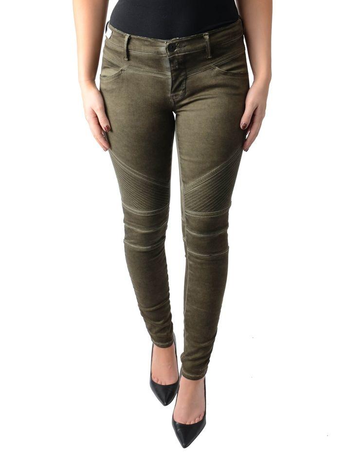 Replay Khaki Biker Hyperflex Jeans | Accent Clothing