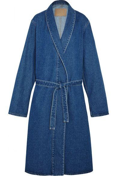 Balenciaga | Belted denim coat | NET-A-PORTER.COM