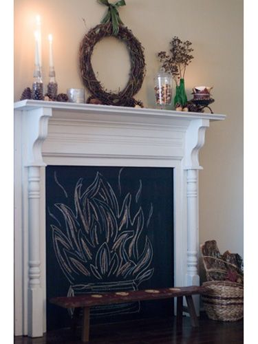 25 best ideas about faux fireplace on pinterest fake fireplace fake firep - Customiser une cheminee ...