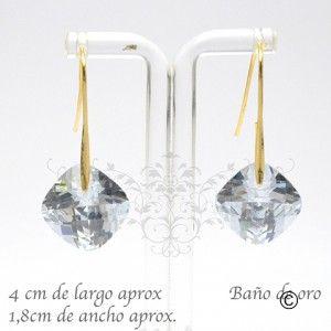 BER_0022 aros con cristal y baño de oro