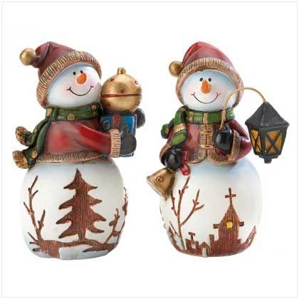 Christmas Stuff Holiday Snowmen Figurines