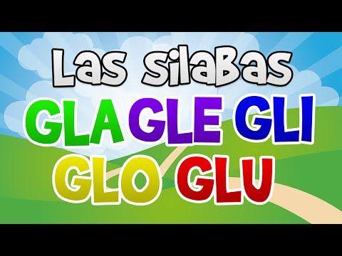 Las silabas GLA GLE GLI GLO GLU en español para niños | Aprender a Leer - YouTube