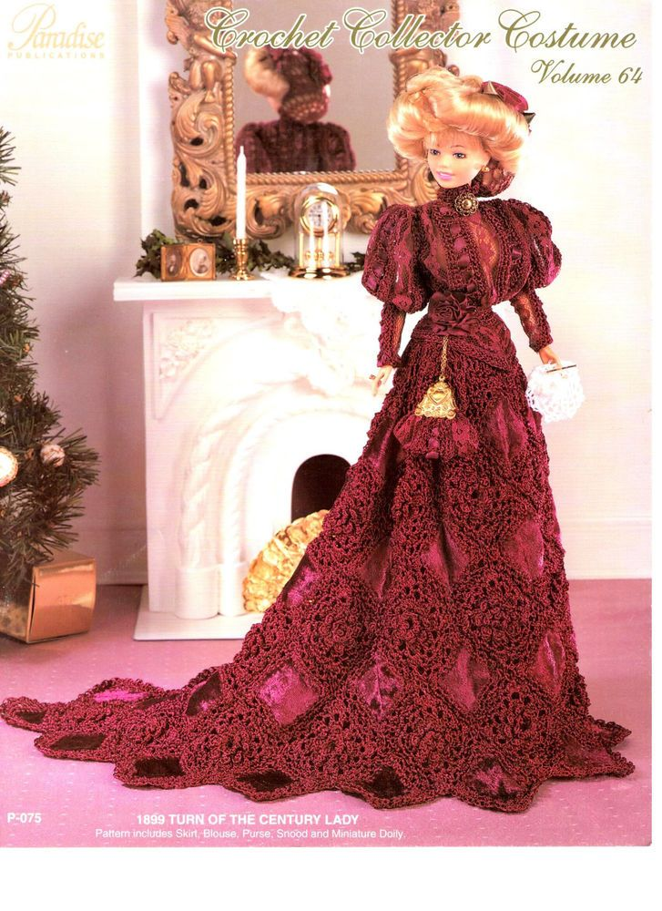 1899 Turn of the Century Lady Paradise Crochet Doll Pattern!