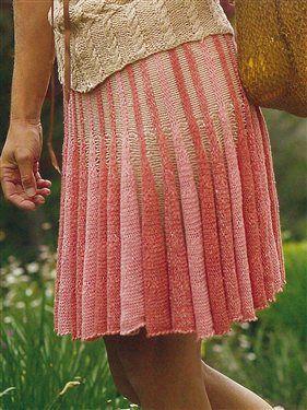 Ashley Skirt, As Seen on Knitting Daily Tv Episode 108 - Media - Knitting Daily