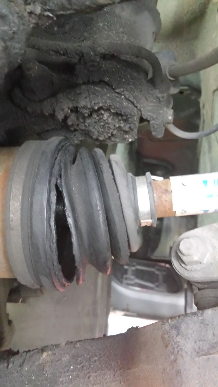 broken cv boot on a front wheel drive constant velocity