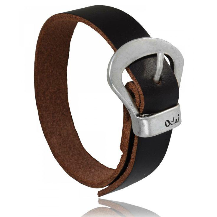 Bracelet homme cuir marron Ravena - Oclaf