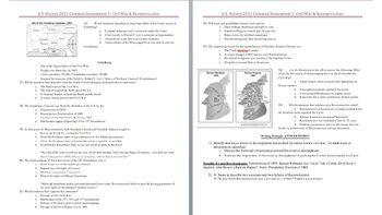 Civil War & Reconstruction Unit Test | Essay prompts ...