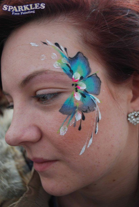 Beautiful flower face paint. Face Painting London – Sparkles Face painting – Facepainter, Facepainters, Facepainting | Girls Faces