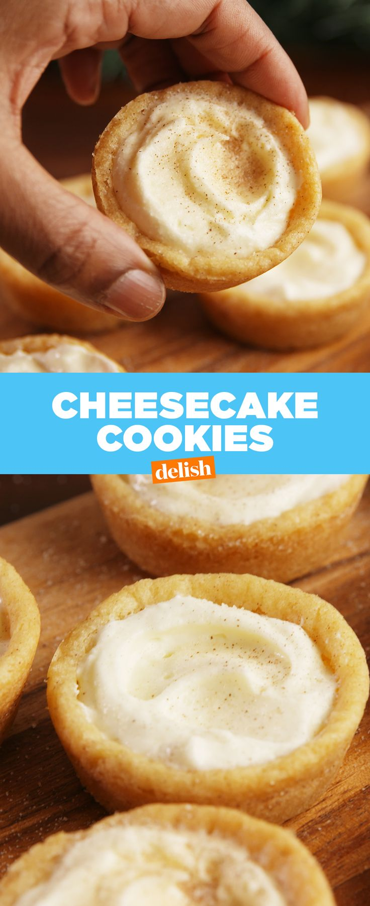 Cheesecake + Cookies = the ultimate dessert mashup. Get the recipe at Delish.com