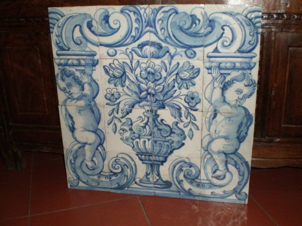 Painel de Azulejos do Séc. XVIII: Azulejos Mosaicos, De Azulejos, Azulejo Portugu, Portugu Tile, Tile Potterty Of, Portuguese Tiles, Majolica Tile, Loeil, Azulejos Portugueses