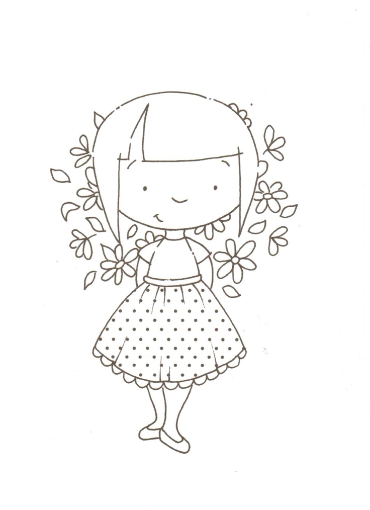 girl with flowers....(sweet design to embroider