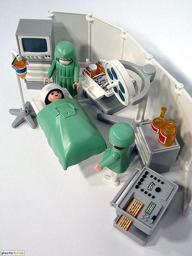 Playmobil sala de cirugía para jugar a médicos y enfermeras