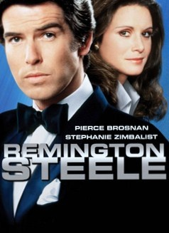 Ahh...the nostalgia this brings me...  Remington Steele and Laura Holt! What a hoot. What a fun show from the late 80's!