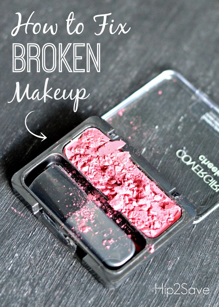 How to Fix Broken Powder Makeup by Hip2Save.com (Excellent makeup tip!)
