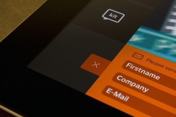 kit digital iPad app -   User Interface Design, Information Architecture, Web Design