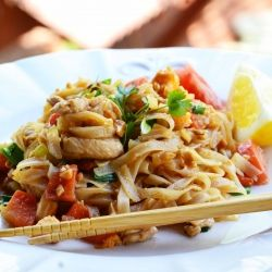 An authentic recipe for Pad Thai! Oh so delicious and easy! #foodgawker