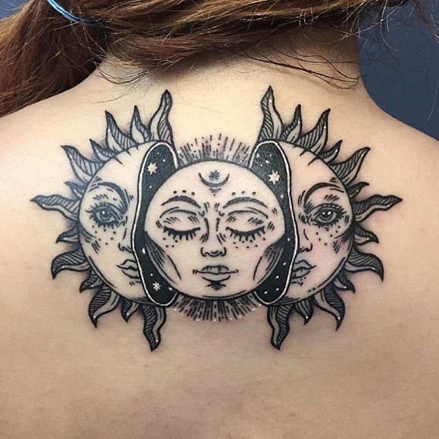 50 Meaningful And Beautiful Sun And Moon Tattoos Kickass Things Sun Tattoos Moon Tattoo Tattoos