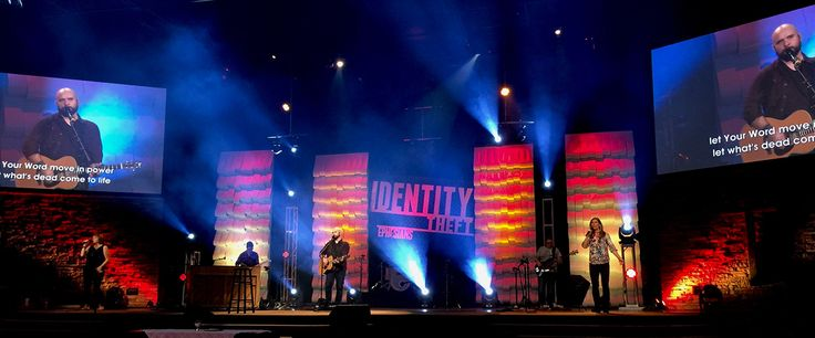 Scenic sets and stage design ideas from churches around the globe.