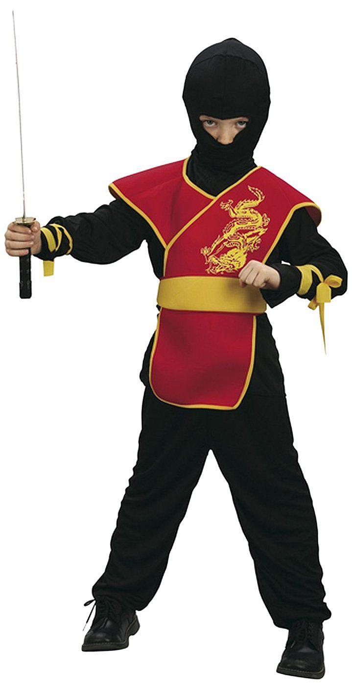 Boland 86894 - Kinderkostüm Ninja Meister mit Hose, Shirt, Gürtel und Maske, 4…