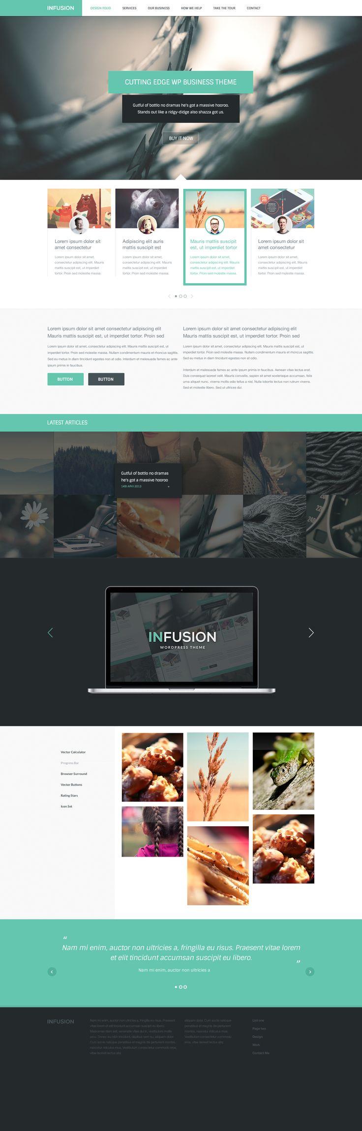 Инфузионные бесплатно современный шаблон сайта фотошоп PSD