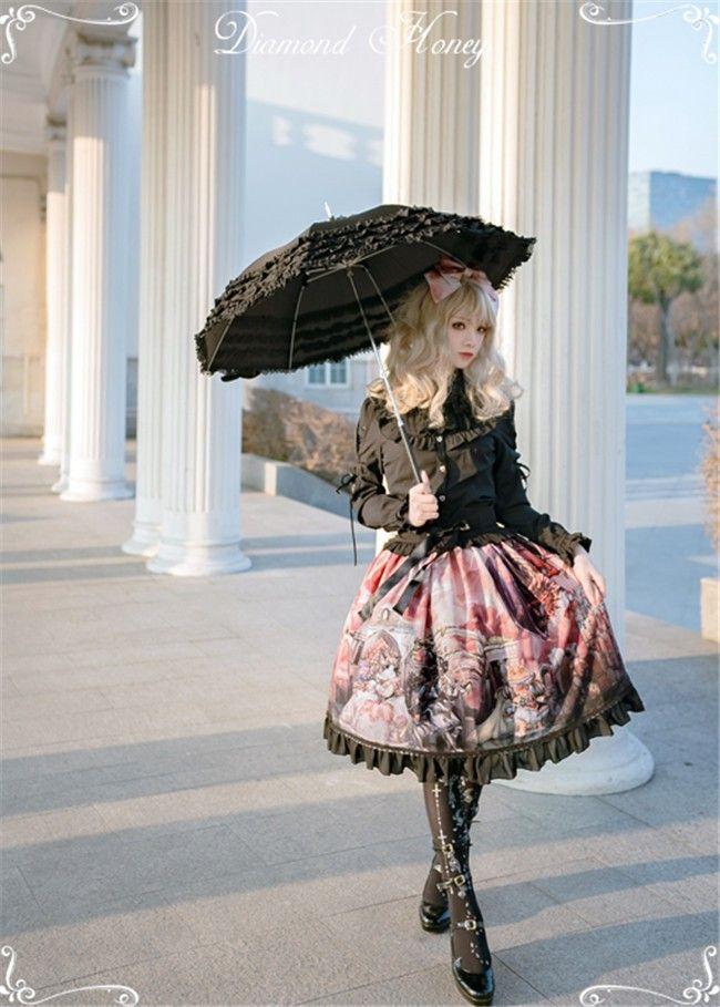 Dragon and Knight~ Gothic Lolita Skirt$59.99 - My Lolita Dress
