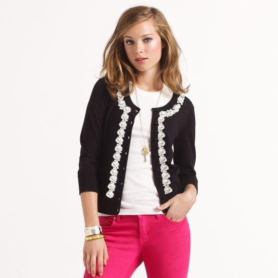 Kati Cardigan--Kate Spade: Cardigans, Sweaters, Beaded Kati, Style, Pink Pants, Kati Cardigan, Kate Spade, Spade Beaded, Designer Clothing