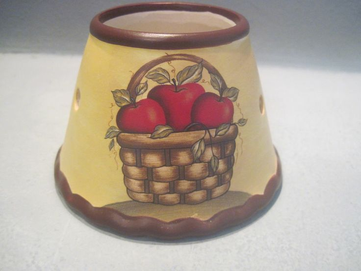 Apple jar candle lamp shade, fall decor