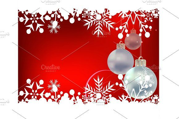 Red Christmas background by kio on @creativemarket