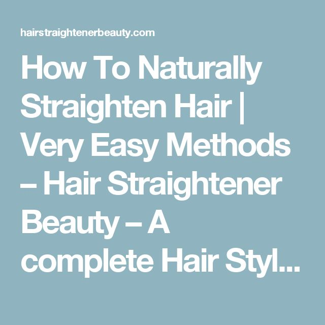 Naturally Straighten Hair With Milk And Honey