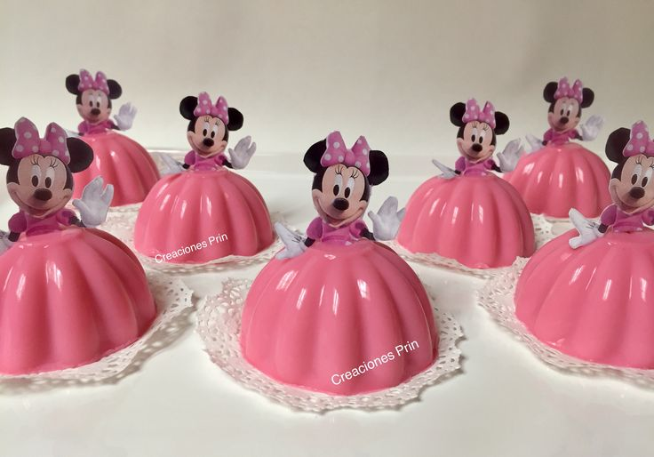 Gelatinas de Minnie Mouse individuales