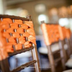Here are 5 creative ways to cover your chairs!  Photos by JoPhoto