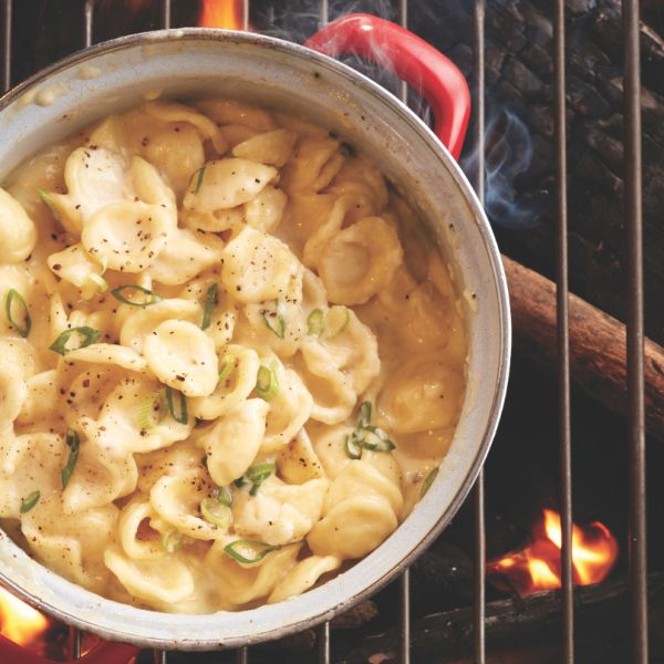 This one-pot classic mac and cheese is perfect for your next camping trip. Top it up with grilled sausage or crumbled bacon for an extra hit of protein.