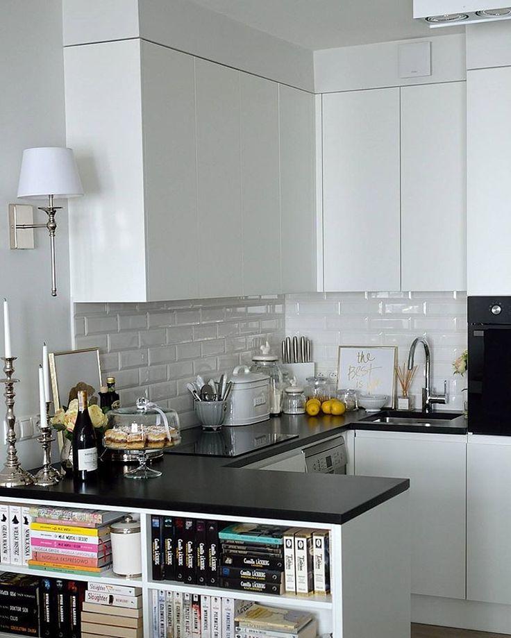 tiny white&black kitchen :-)