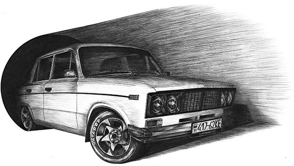 VAZ-2106 by Yaroslav Balaban, via Behance