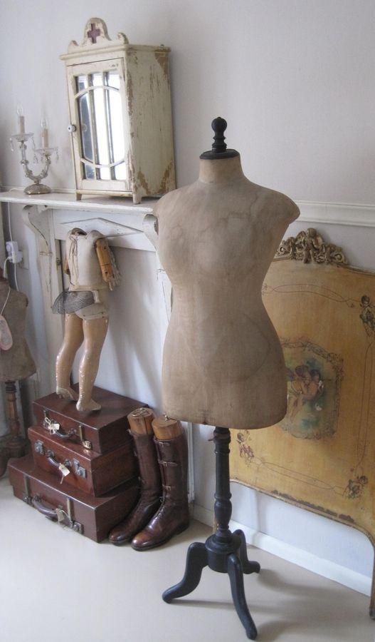 Antieke Stockman, brocante, déco vintage brocante campagne, ancien mannequin de couturière