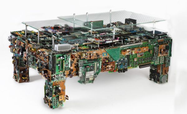 Coffee table made from e-waste