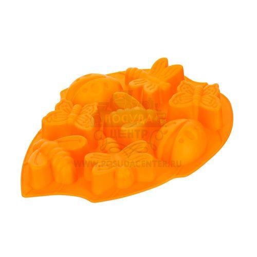 Форма для выпечки Лето Marmiton, оранжевый, силикон