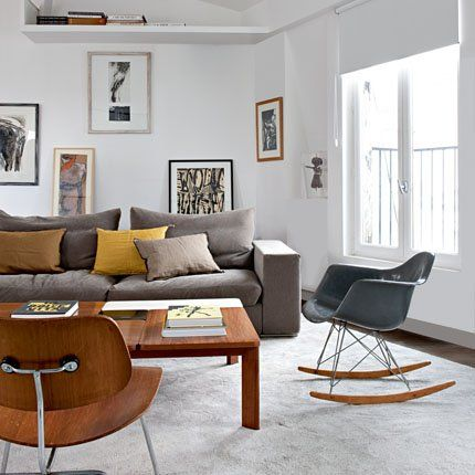 ..: Decor, Interior Design, Ideas, Living Rooms, Eames Rocking Chair, Rocking Chairs, Interiors, Livingroom, Mid Century